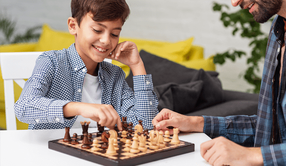Memory training at online chess school for kids Fianchetto